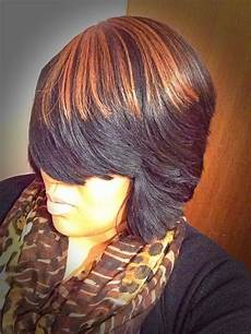 feathered bob quickweave by me katherine weave