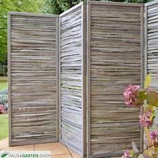 paravent für terrasse haselnussparavent aus geteilten haselnussruten 4 teilig