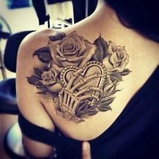 Schulter Herz Frau Ink Tattoos