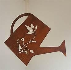 dekoration zum aufhängen edelrost gie 223 kanne zum aufh 228 ngen garten dekoration rost