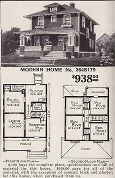 sears craftsman house plans artistic foursquare sears modern home no 264b179