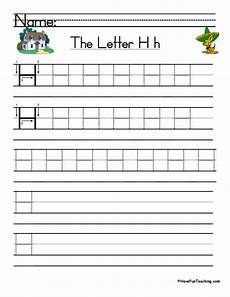 practice letter h worksheets 24499 letter h handwriting practice teaching