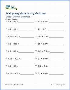 multiplication decimals worksheets grade 6 7466 grade 6 math worksheet decimals multiplying decimals by decimals k5 learning