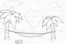 Malvorlage Urlaub Am Meer Ausmalbild Sommer Kribbelbunt