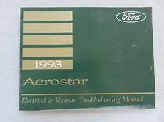 electric and cars manual 1993 ford aerostar parental controls 1993 ford aerostar electrical wiring diagrams service manual oem factory shop ebay
