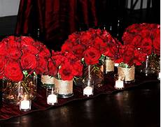 tall red rose wedding centerpieces bold red rose