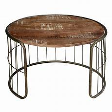 On The Fence Mango Wood Iron Rustic 30 Coffee Table