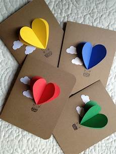 Air Balloon Cards Set Of 4 Diy Crafts For