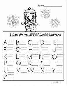 free winter kindergarten letter writing worksheet
