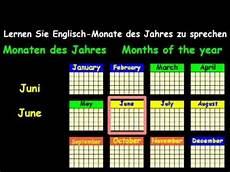 Lernen Sie Englisch Monate Des Jahres Zu Sprechen