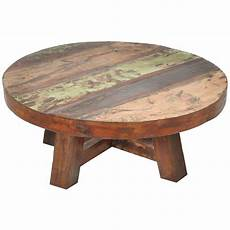 Circular Wood Coffee Table