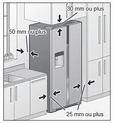 dimension frigo americain encastrable bien installer un r 233 frig 233 rateur am 233 ricain darty vous