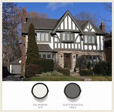 colorfully behr tudor style