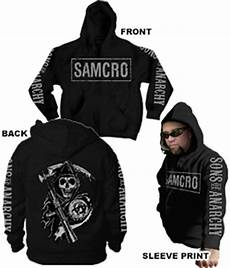 official sons of anarchy samcro logo 4 print zip up