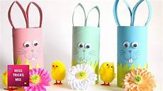 basteln mit klopapierrollen ostern diy how to make an easter bunny using toilet paper roll