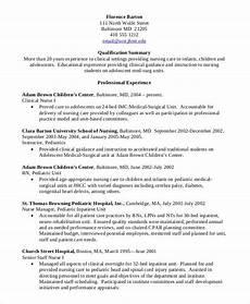 nursing student resume clinical experience nursing