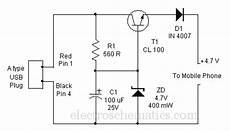 Wireles Usb Schematic Diagram by Usb Cellphone Charger Circuit