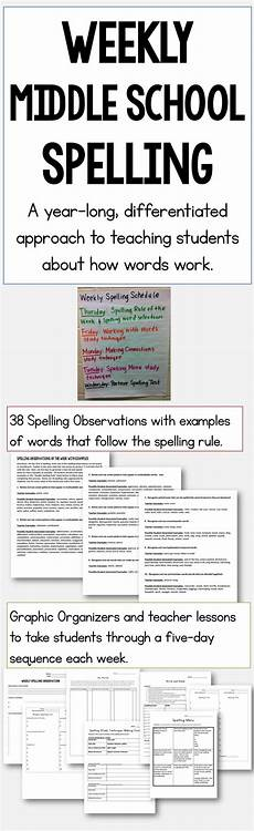 worksheets middle school 15539 middle school spelling a year differentiated approach middle school reading middle