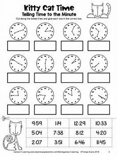 time measurement worksheets for grade 2 1615 free telling time worksheet for the nearest minute cut and paste