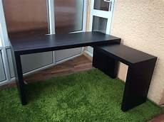 ikea malm desk with pull out panel great condition in