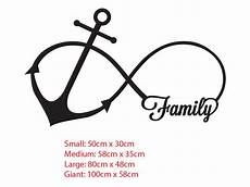 Family Anchor Infinity Symbol Wall Sticker