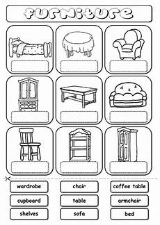 furniture drag and drop interactive worksheet english worksheets for kids english lessons