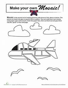 paper airplane science worksheets 15715 make a mosaic airplane science projects paper airplane mosaic