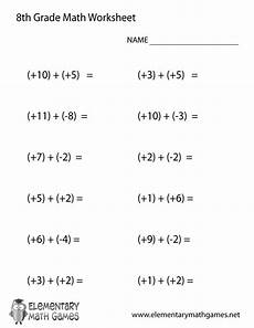 eighth grade addition worksheet