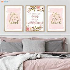blush gold watercolor canvas painting light pink nursery print love quote poster wall art canvas