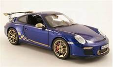 porsche 997 gt3 rs 2010 miniature bleu beige norev 1 18