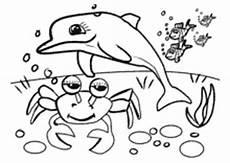 Unterwasser Tiere Malvorlagen Ausmalbilder F 252 R Kinder Mit Unterwasser Szenen