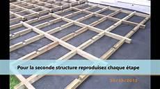 fabrication d une terrasse en bois montage d une structure pour terrasse en bois ou composite