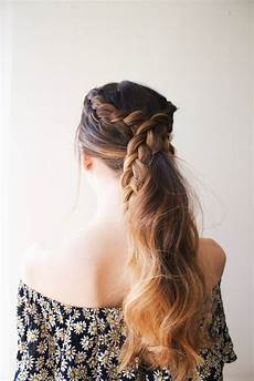 very cute diy simple braided ponytail styleoholic