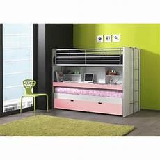 bureau lit combiné lits enfant superpos 233 s combin 233 avec tiroir lit blanc