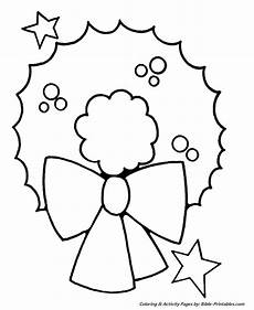 easy pre k coloring pages wreath