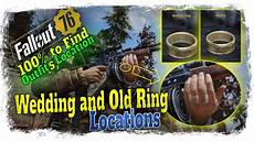 where to find fallout 76 wedding and old rings fallout76 100 to find outfits youtube