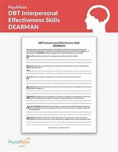 dbt interpersonal effectiveness skills dearman worksheet psychpoint