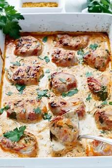 schweinefilet mit bacon in currysahne rezept