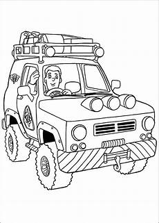 ausmalbilder feuerwehr jeep fireman sam coloring pages to and print for free