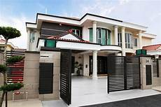 detached house exterior design in malaysia front design