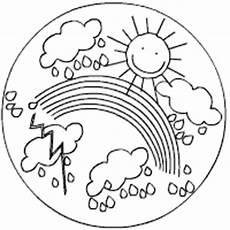 ausmalbild regenbogen sonne zeichnen und f 228 rben