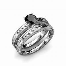 how do wedding rings work 7 3 mm black diamond filgree milgrain work bridal ring