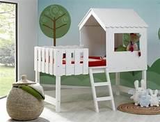 Lit Enfant Mi Hauteur Blanc Cabane Robin Et Matelas