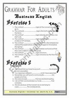grammar worksheets for adults esl 24681 grammar for adults business esl worksheet by allakoalla