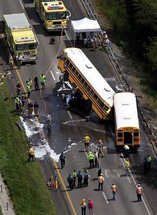 accident on highway 40 st louis today 2 killed after school buses crash into truck cab the new york times