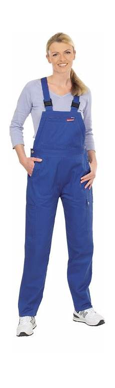 damen latzhose arbeitskleidung arbeitshose blau gr36 54 ebay