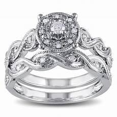 miadora sterling silver 1 5ct tdw diamond infinity filigree vintage halo bridal ring white