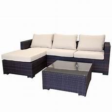 garten sofa garten lounge couch aus polyrattan gartencouch sofa braun