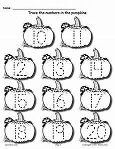 free printable pumpkin number tracing worksheets 1 20