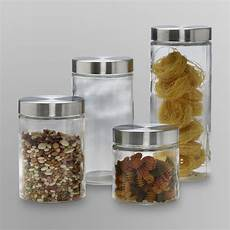 glass canister set for kitchen anchor hocking 4 glass canister set